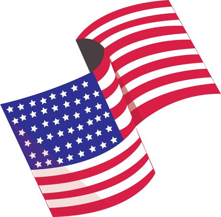 Be patriotic by flying the American flag.