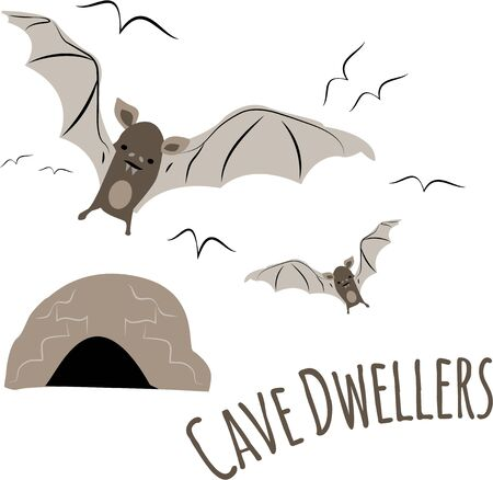 animal den: Bats are a wonderful design for a nature lover.