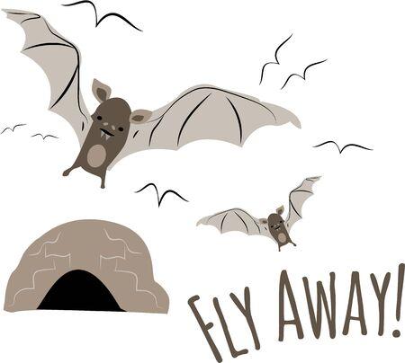 Vleermuizen zijn een prachtig ontwerp voor een natuurliefhebber.
