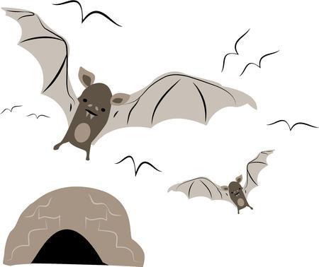 コウモリは、自然愛好家のための素晴らしいデザインです。