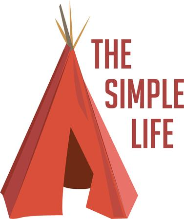 teepee: Go native with an Indian teepee. Illustration