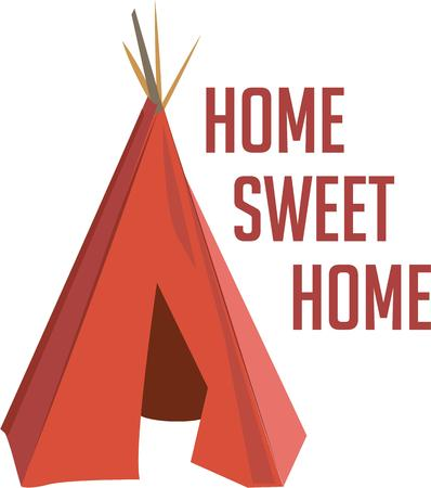 wigwam: Go native with an Indian teepee. Illustration
