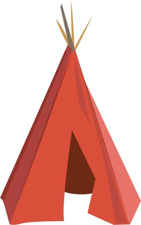 Go native with an Indian teepee. Illustration