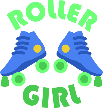 rollerblade: Roller skating is a fun activity.  This is the perfect design for your bag that holds your skates.