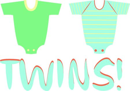 These cute baby clothes make a perfect shower gift.  Use this image for your next design.  Perfect for a babys room. Ilustração