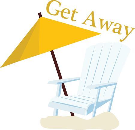 ビーチ トートになります素敵な太陽のための椅子がアクセントします。 写真素材 - 44886154