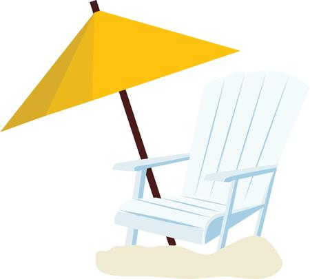 gamp: A beach tote will look nice accented with a chair to sun in. Illustration