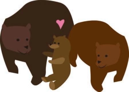 Animal lovers will enjoy this bear family.