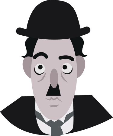 to decide: Chaplin will make you smile whenever you decide to put his face. Illustration