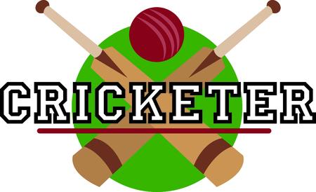 stumps: Sports fans will love a cricket design.