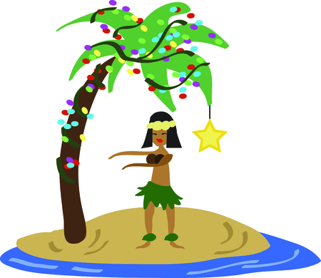 memento: Use this hula dancer as a memento from your Hawaiian Christmas.