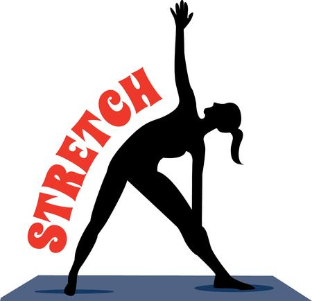 Accent your workout gear with a yoga pose.