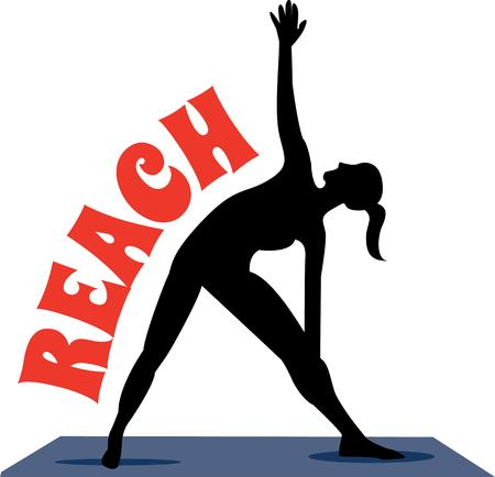 breathing exercise: Accent your workout gear with a yoga pose.