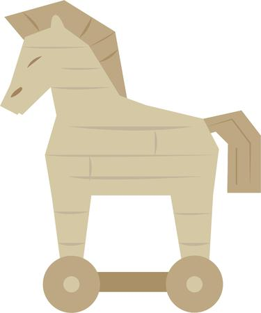 Let people know that great things come in strange packages with this Trojan horse on a t-shirt.