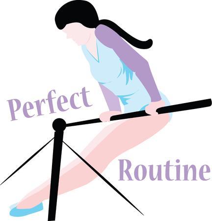 Show off your love of gymnastics with this girl. Ilustração