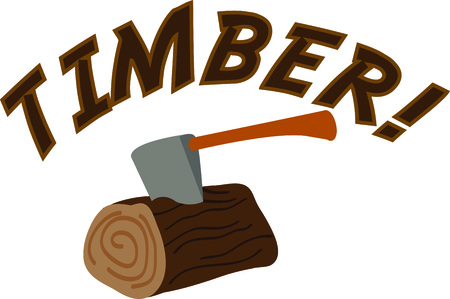 woodcutter: this is the perfect advertisement for your lumberjack business. Illustration