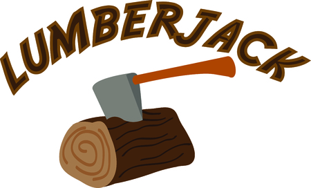 lumberjack: this is the perfect advertisement for your lumberjack business. Illustration