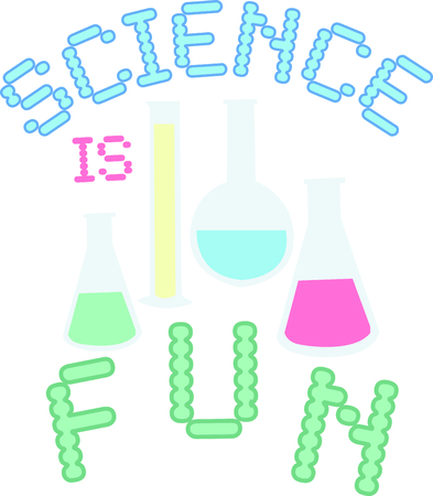 lab coat: These beakers are a great logo for a scientists lab coat.