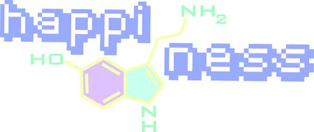 substances: This chemical formula is a great icon for a scientists lab coat. Illustration