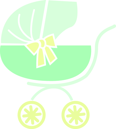 buggy: Add a buggy to a new baby gift. Illustration