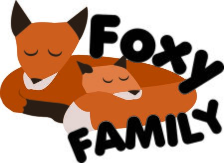 Animal lovers will enjoy this fox family. Ilustração