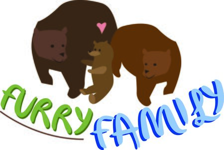 Animal lovers will enjoy this bear family.