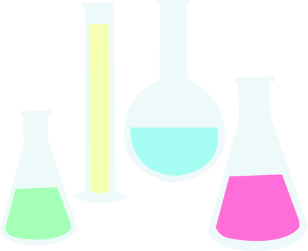These beakers are a great logo for a scientists lab coat.