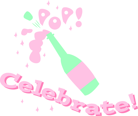 champagne pop: Celebrate a special occasion with a bottle of champagne.