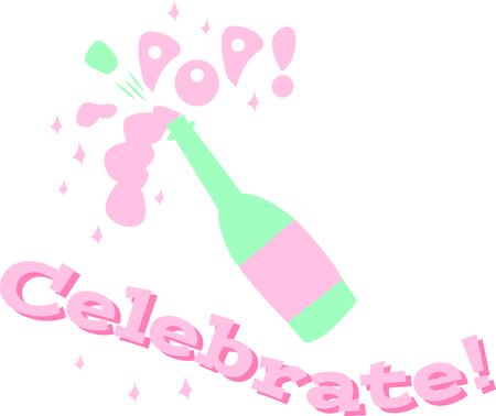 Vier een speciale gelegenheid met een fles champagne. Stockfoto - 44887309