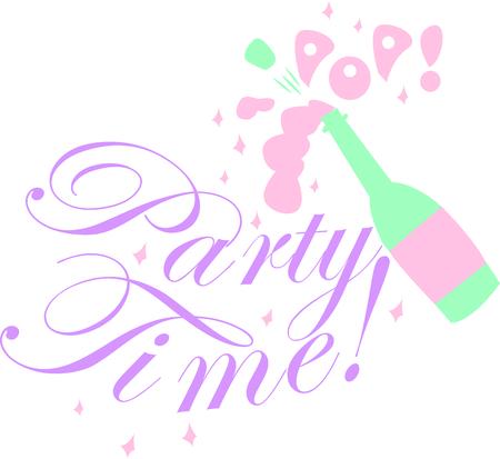 シャンパンのボトルと特別な機会を祝うため。