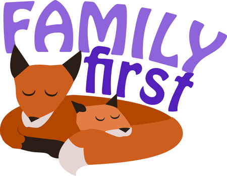 Animal lovers will enjoy this fox family. Ilustrace