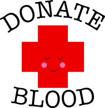 croix rouge: Cette croix rouge heureux est une merveilleuse fa�on de rappeler aux gens � donner du sang.