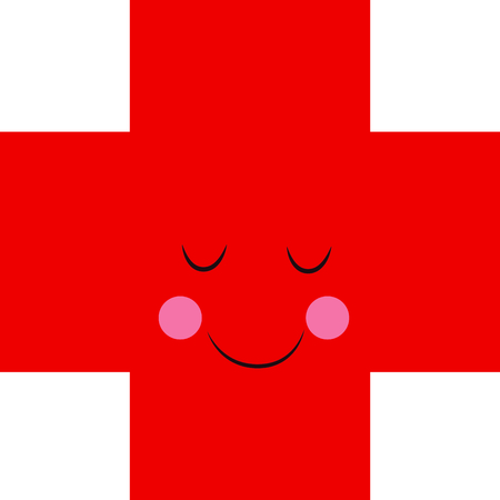 remind: This happy red cross is a wonderful way to remind people to donate blood. Illustration