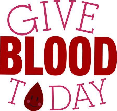 Deze gelukkige bloeddruppel is een prachtige manier om mensen eraan te herinneren om bloed te doneren.