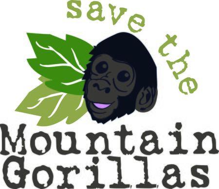 동물원에 휴가를 떠올리게하기 위해 다음 산의 고릴라를 찾으십시오. 일러스트