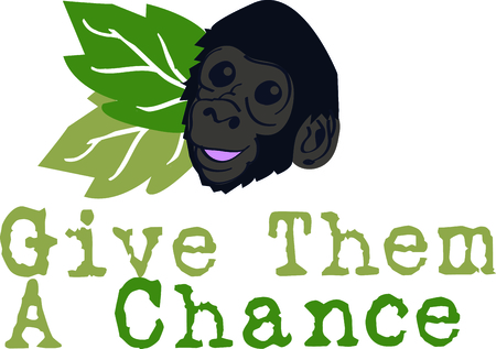 simian: Get this mountain gorilla for your next design to remind you of the vacation to the zoo. Illustration