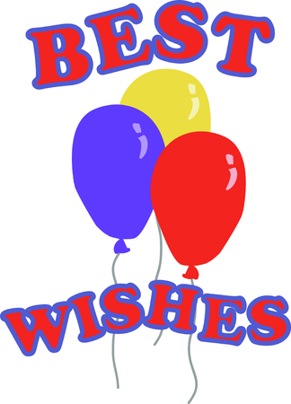 생일 풍선에 재미를 더하기 위해 풍선을 사용하십시오! 일러스트