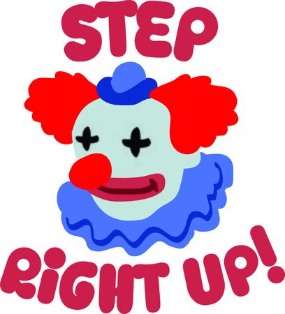 clowning: This clown is perfect for the funny person in your life.