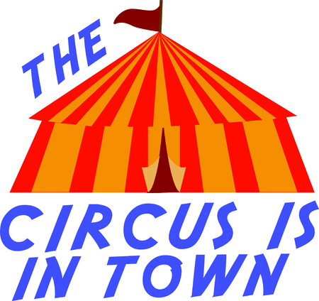 show ring: Use this circus tent for a fun circus theme  project. Illustration