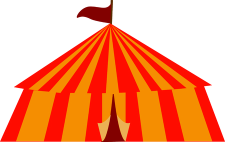 big top: Use this circus tent for a fun circus theme  project. Illustration
