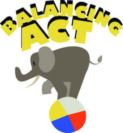 big top: Use this balancing elephant for a fun circus theme project.