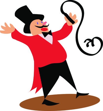 big top: Use this ringmaster for a fun circus theme project.