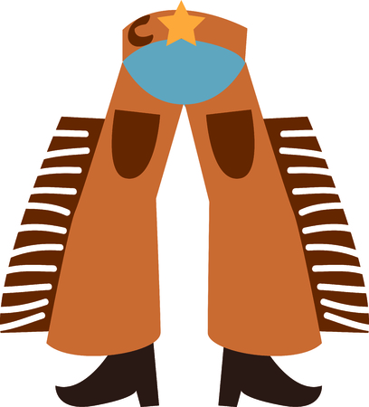 poke: Use this cowboy chaps design for your next project.