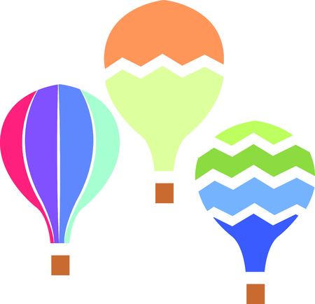 The perfect design to add to a baby or toddler's nursery.  A cute hot air balloon that looks like a water color painting.