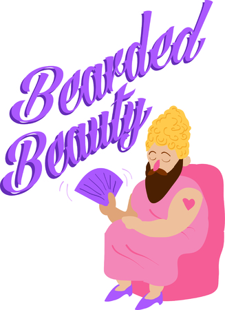このひげを生やした女性を使用して、楽しいサーカス テーマ プロジェクトです。 写真素材 - 44887094