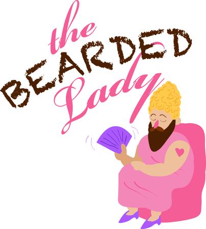 このひげを生やした女性を使用して、楽しいサーカス テーマ プロジェクトです。 写真素材 - 44887104