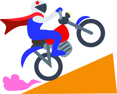 stunt: Use this motorcycle stunt for a fun circus theme project.
