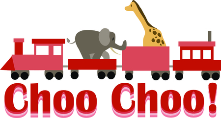 Use this animal train for a fun circus theme  project.