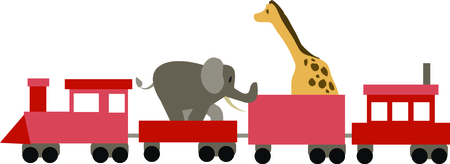 big top: Use this animal train for a fun circus theme  project.