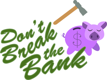 oink: Break into your savings bank with this piggy. Illustration